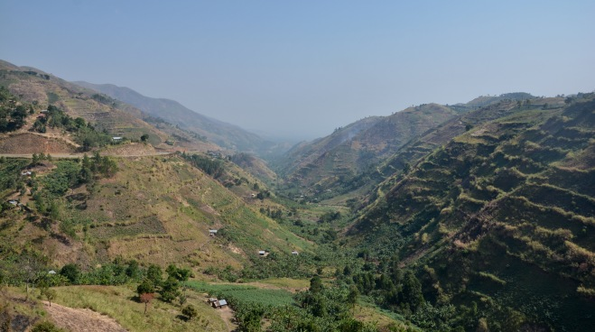 Descending to the Rift Valley once again, near Fort Portal, Uganda