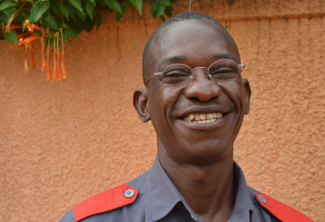 Fred, hotel guard at Ishaka, Uganda.