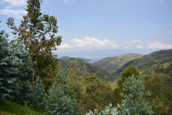 Lake Kivu Rwanda from the road southwards