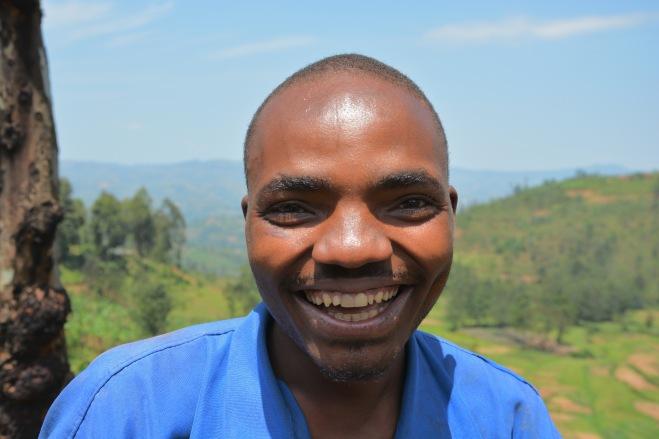 A joke at the roadside in Rwanda