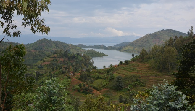 On the road south along Lake Kibuye