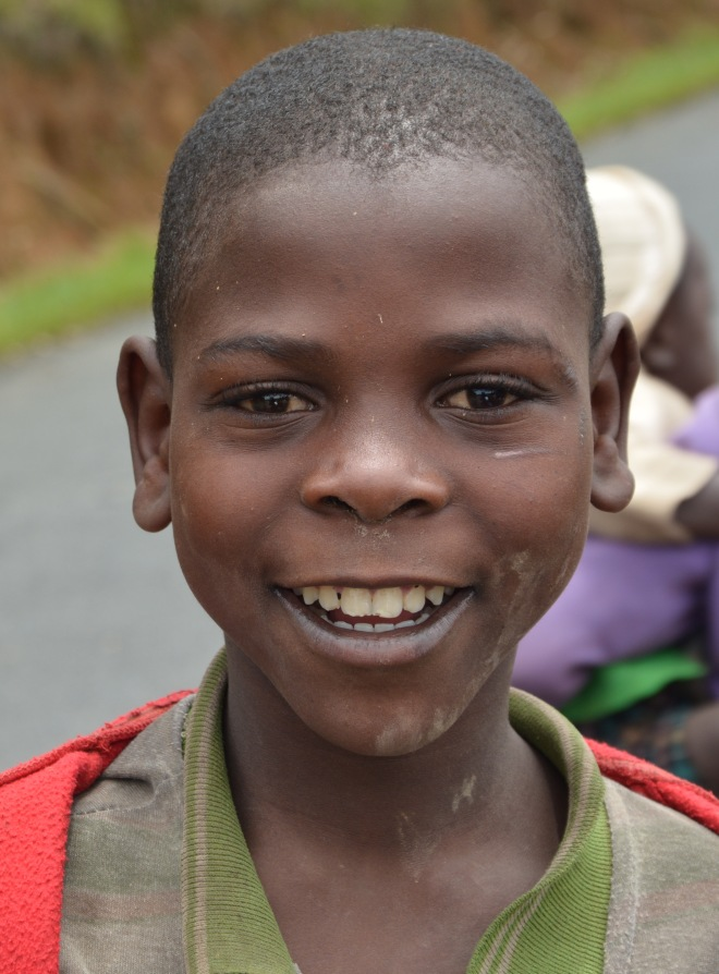Boy at the roadside, Rwanda