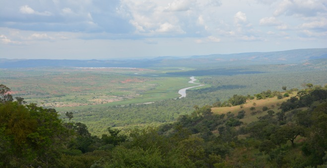 The border between Rwanda and Tanzania